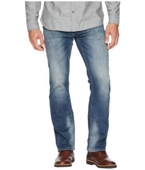 Imbracaminte Barbati Buffalo David Bitton Six-X Slim Straight Jeans in Crinkled amp Sanded Crinkled Sanded