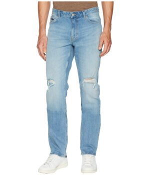Imbracaminte Barbati Calvin Klein Slim Straight Fit Jeans in Divisadero Blue Wash Divisadero Blue Wash