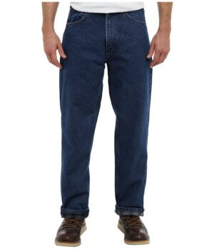 Imbracaminte Barbati Carhartt Relaxed Fit Straight Leg Flannel Lined Darkstone