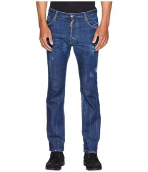 Imbracaminte Barbati DSQUARED2 Dark Simple Cropped Flare Jeans Blue