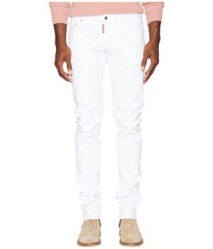 Imbracaminte Barbati DSQUARED2 White Bull Slim Jeans White