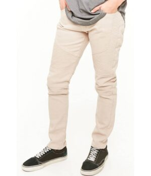 Imbracaminte Barbati Forever21 Slim-Fit Moto Jeans TAUPE