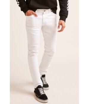 Imbracaminte Barbati Forever21 Slim-Fit Moto Jeans WHITE