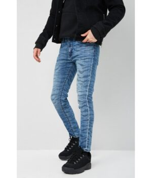 Imbracaminte Barbati Forever21 Tiger Print Slim-Fit Jeans LIGHT BLUEMULTI