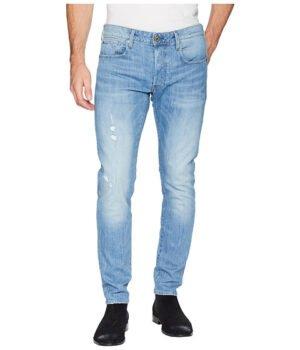Imbracaminte Barbati G-Star 3301 Slim Jeans in Light Aged Heavy Stone Rider Stretch Denim Light Aged Heavy Stone Rider Stretch Denim