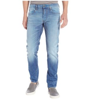 Imbracaminte Barbati G-Star 3301 Slim in Itano Stretch Denim Light Aged Itano Stretch Denim Light Aged
