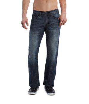 Imbracaminte Barbati GUESS Rowland Relaxed Straight Leg Jean - Dark Wash dark wash 32