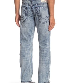 Imbracaminte Barbati True Religion Straight Acid Wash Jeans FEKL SERPENT HISS