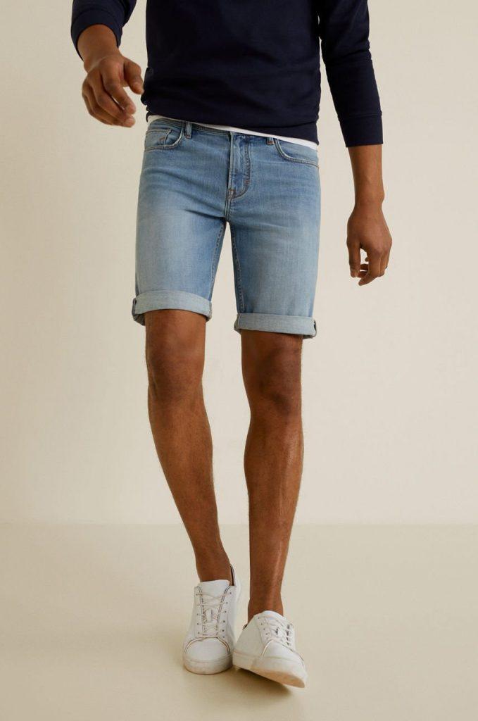 Mango Man - Pantaloni scurti jeans Rock4