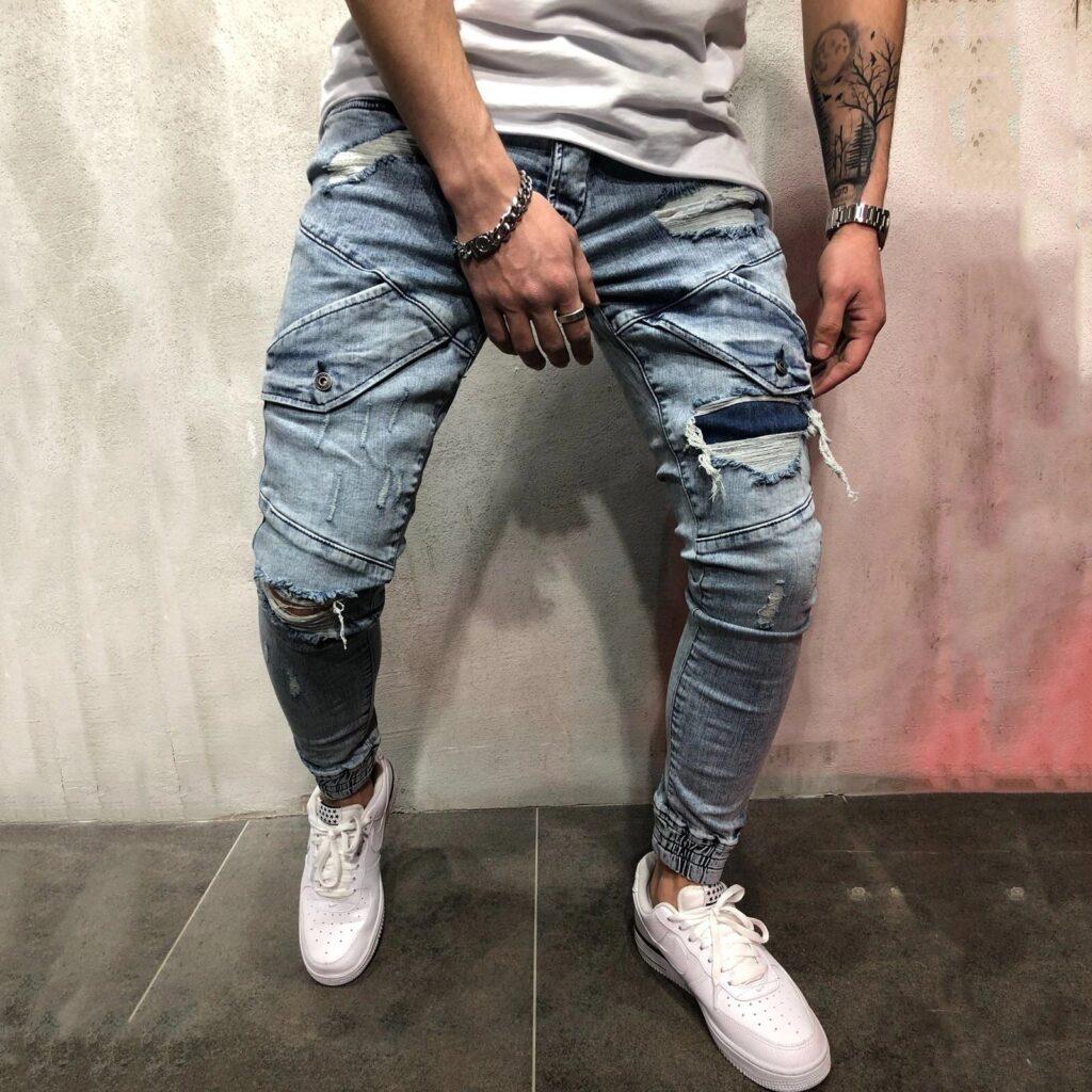 Pantaloni lungi tip blugi pentru barbati