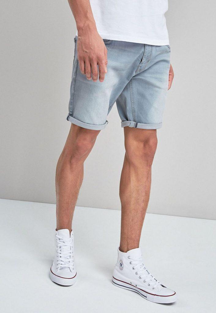 Pantaloni scurti de denim - cu croiala dreapta