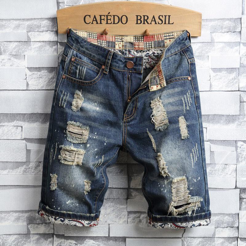 Pantaloni scurti tip blugi pentru barbati